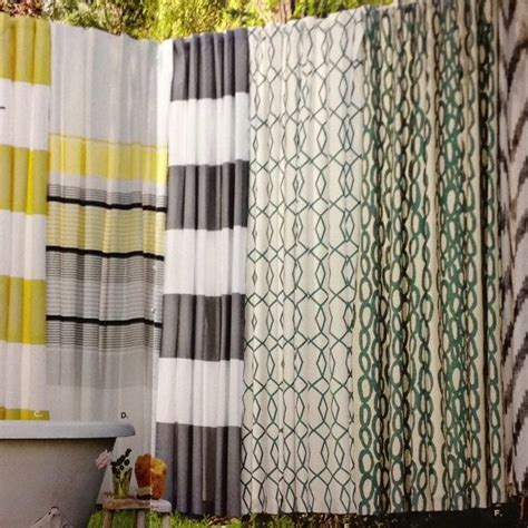 grey striped curtains grey and white stripe shower curtain west elm gray and