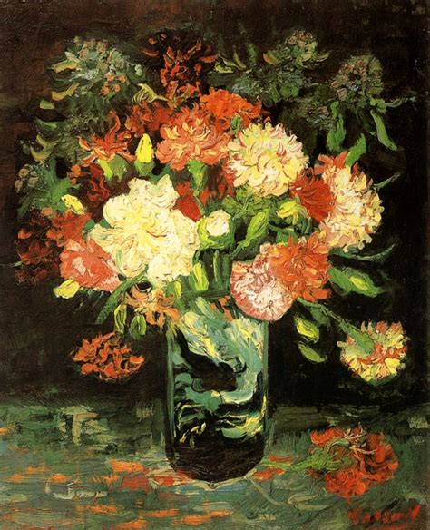 Gogh Flower Vase by Vase With Carnations 1886 Vincent Gogh Wikiart Org