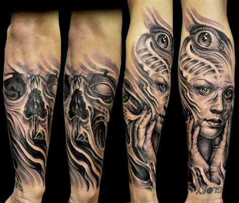scary skull tattoo designs scary skull by josh duffy design of tattoosdesign