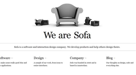 we are sofa 40 amazing minimalist website designs for your inspiration