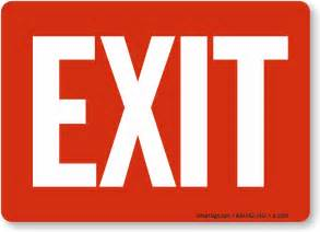office exit signs
