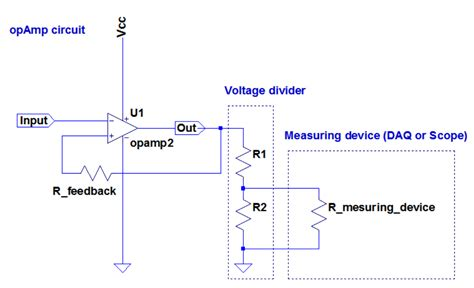 resistor divider values op determining values of voltage divider resistors which interface an op and an input