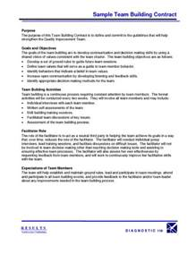 team agreement template sle team building contract pdfsr