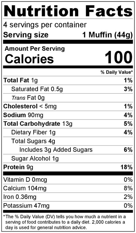 Birthday Cake Muffin Donut Mix Smart Choice Protein Birthday Nutrition Facts Label Template