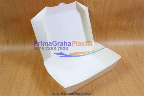Lunch Box Kertas Sekat 4 Xl 200 Pcs Gojek Only lunch box paper hamburger nasi goreng martabak small medium large stock ready home