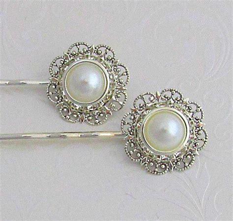 Vintage Bridal Hair Pins by Pearl Hair Pins Ivory Pearl Clip Bobby Pins
