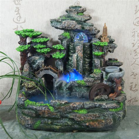 water decorations home rockery decorative indoor water fountains humidifier home