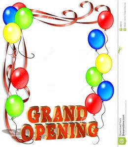 grand opening sign template stock image image 6380101