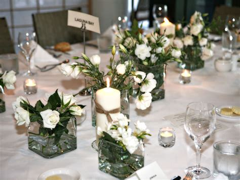 Wedding Table Flower Arrangement by Wedding Table Arrangements Box Hill Florist