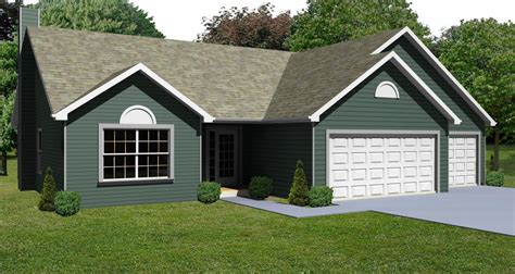 small house with garage plans small house plan small 3 bedroom ranch house plan the house plan site