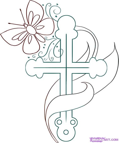 doodle how to make religion cool pictures of crosses to draw cliparts co