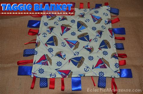 Handmade Taggies - taggie blanket eclectic momsense