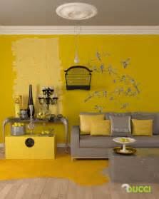 wohnzimmer gelbe wand yellow room interior inspiration 55 rooms for your