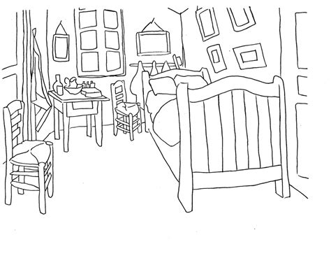 bedroom for coloring van gogh coloring pages van gogh gallery