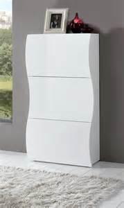 meuble 224 chaussures design 3 portes laqu 233 blanc onida