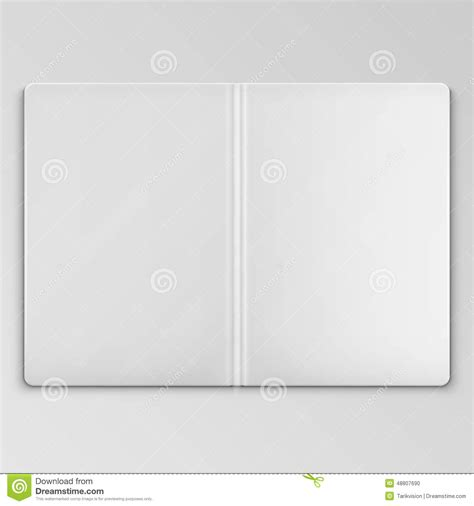 white open book cover template stock vector image 48807690