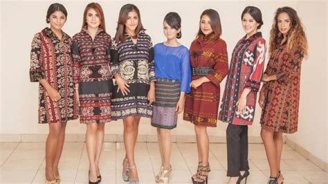 Dress Tenun Ayou Tupas Ntt fashion model baju tips baju murah batik tenun