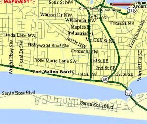 map of florida fort walton walton maps of the walton area
