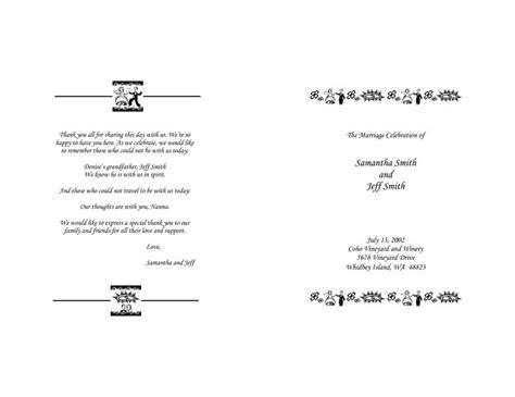 the design of wedding program thank you wording criolla the design of wedding program thank you wording criolla