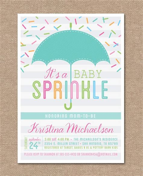 printable baby sprinkle invitation baby shower