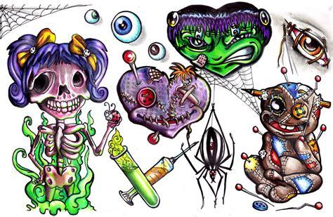 new school tattoo designs free new school evil tattoo ideas tattoo flash art free