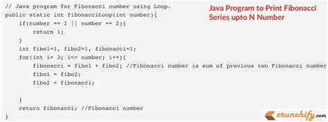number pattern programs in java using for loop write java program to print fibonacci series upto n number