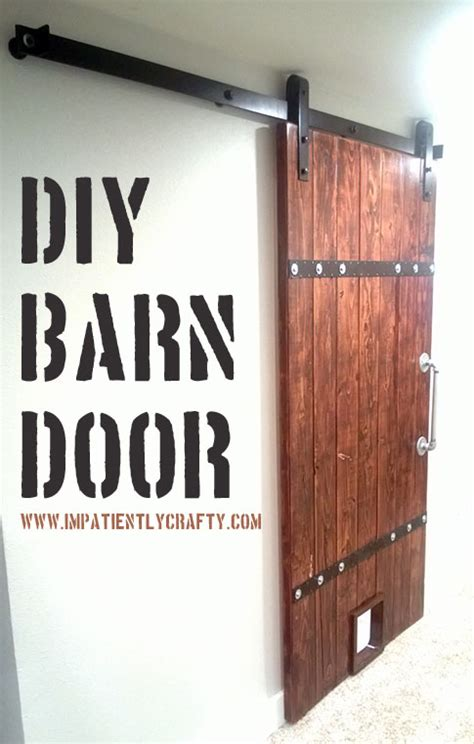 Barn Door Tutorial Diy Barn Door Tutorial Made From 2x6 Pine This Is A Budget Friendly Project House