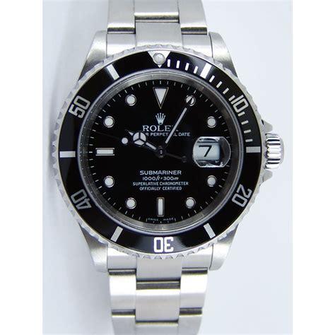 black rolex rolex submariner black dial stainless steel 16610ln price