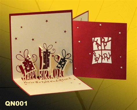 Pictures Of Handmade Greeting Cards - birthday gifts pop up handmade greeting cards qn001