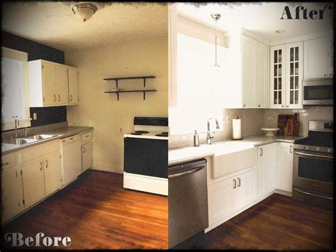 small kitchen diy ideas before after remodel pictures of