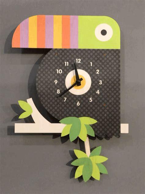 kids clock toucan pendulum clock modern moose