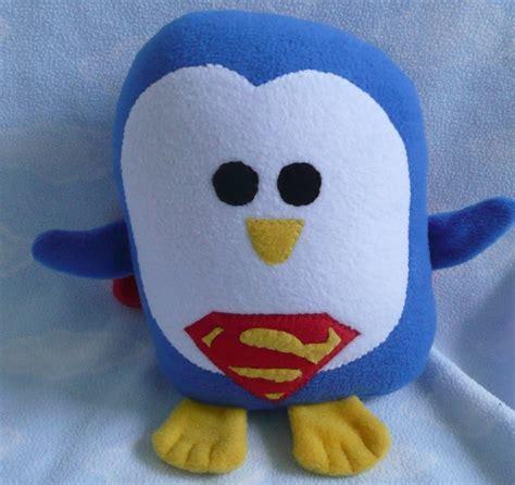 plush superman penguin pillow pal pillows