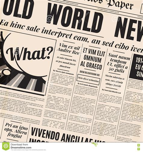 newspaper layout font old newspaper design vector template stock vector image