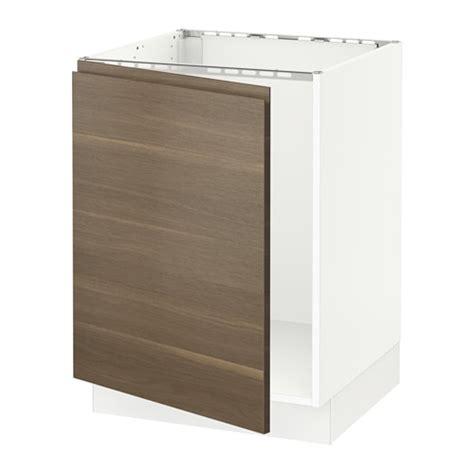 sektion corner base cabinet for sink white voxtorp left sektion base cabinet for sink white voxtorp walnut