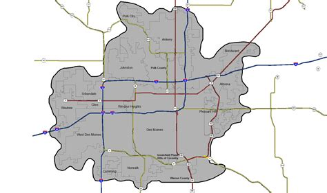 map of des moines service area map recycled wastewater clean water des