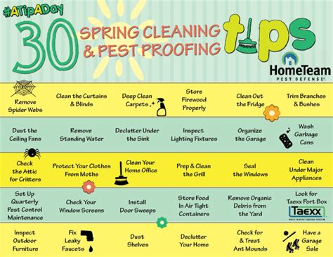 30 days of cleaning and pest proofing tips home