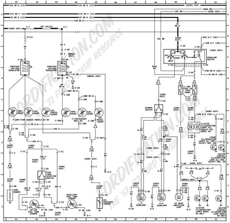 1972 ford f100 wiring diagram 1972 ford truck wiring diagrams fordification