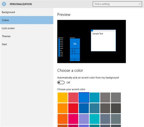 windows color scheme customising the start menu in windows 10 daves computer tips