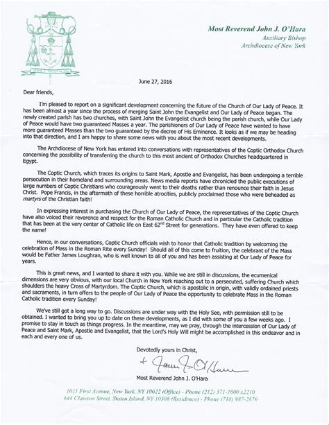 Support Letter Church letters support letter sles christian best free