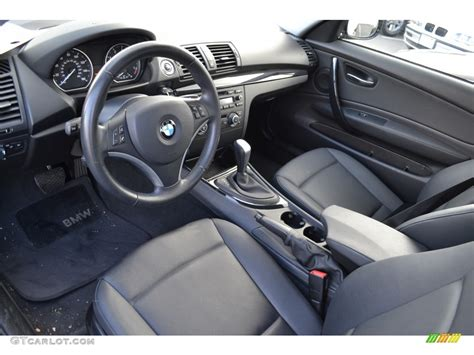 1 Series Coupe Interior by Black Interior 2010 Bmw 1 Series 128i Coupe Photo