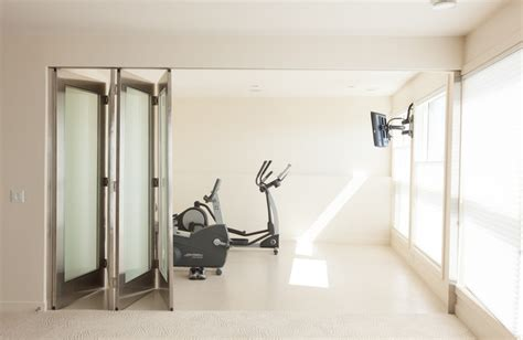 Wall Dividers Edmonton Exercise Room Contemporary Home Edmonton By
