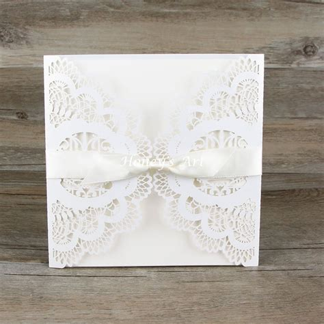 aliexpress buy 50pcs lot wedding invitations laser