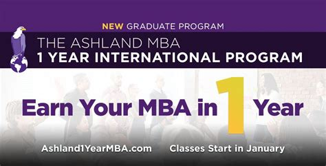 Ashland One Year Mba by Ashland Higher Education In Ohio