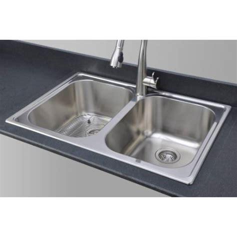 topmount kitchen sink sinkware 18 bowl topmount stainless