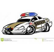 Aggressive Looking Sheriff Police Car Hot Rod Cartoon