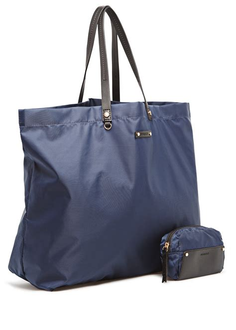 Mango Bag Kode Mng Bag 102 mango foldable shopper bag in blue lyst