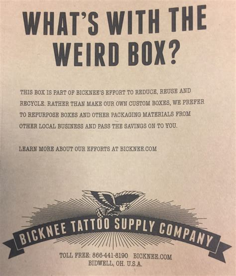 bicknee tattoo supply bicknee recycling program bicknee supply company