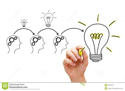 Idea Evolution evolution of an idea stock image image 28624641