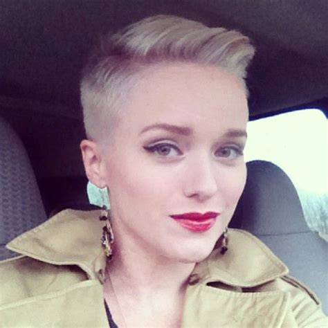 how to cut female hair with short sides and long top best 25 buzzed pixie ideas on pinterest what is an