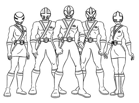 power rangers halloween coloring pages power rangers poses a team pinteres